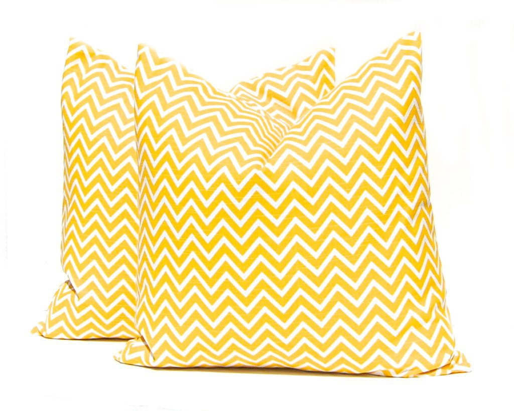 Throw Pillow Euro Sham : Euro Sham Yellow Pillow Cover Decorative by CompanyTwentySix