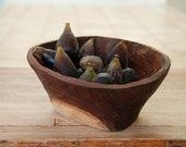 Curio Bowl Walnut Bowl Hand Carved Wooden Serving Bowl