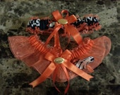 Wedding Garters Denver Broncos fabric prom sport any size color or style.