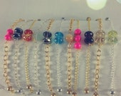 Brass Chain Stone Bracelet - Free Shipping