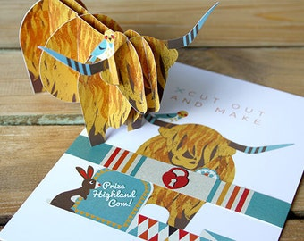 Cut Out and Make Highland Cow 'Betsy'