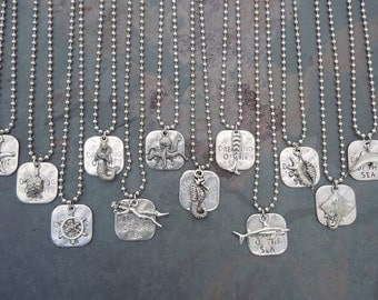Dreaming of the Sea Necklace, Diver Turtle, Fish, Starfish, Sting Ray,Wheel, Dolphin, Mermaid, Sea Horse, Octopus