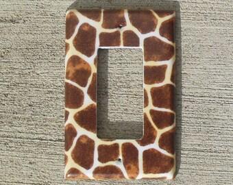 Giraffe Print Rocker / Decora / Dimmer / GCFI Light Switch Plate Cover