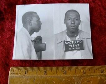 1960 MUG SHOT Sacramento California Police Department Police Criminal Drug Addict Thief