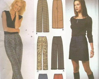 Simplicity 9405  6 made Easy, Pants, and SKirt Pattern SZ 6-12