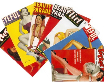 5 PIN UP POSTERS for collage or frame