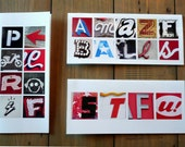 Greeting Cards with an Attitude - Photo Letters - Set of 3