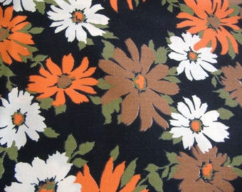 One Yard Vintage Floral Cotton Fabric