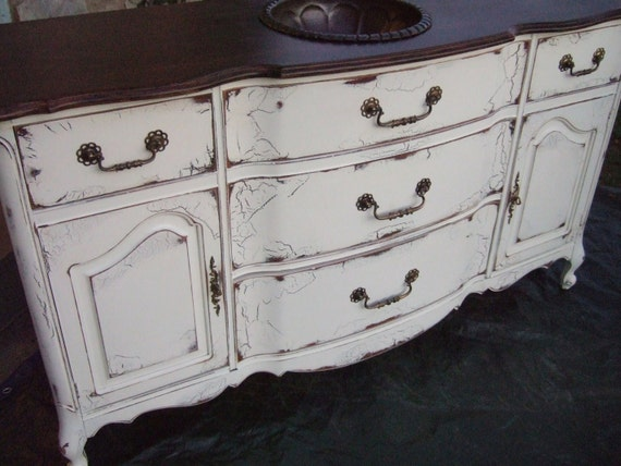 Antiqued french country bathroom vanity cabinet in french French provincial bathroom vanities