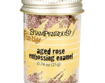 Stampendous Aged Rose Embossing Enamel - Wedding Invitations - Scrapbook Supplies - Embossing Powder