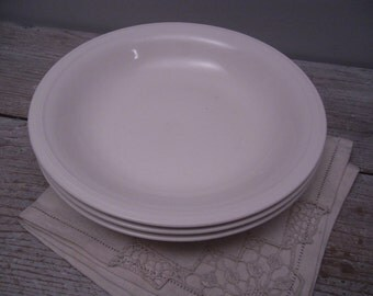 white china bowls / knowles restaurant ware / set of 3