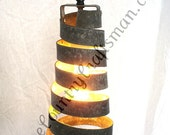 "CORBA - ""Copula"" - Pendant Light Wine Barrel Ring Light  - 100% Recycled"