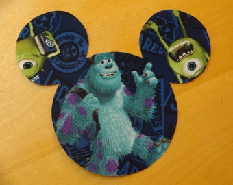 Monsters University Inc. Iron On Mickey Mouse Inspired Head Applique DIY