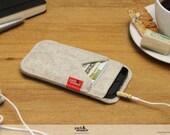 iPhone iPhone SE / 5S felt wallet case 100% wool felt cover sleeve Shetland SH-5-W