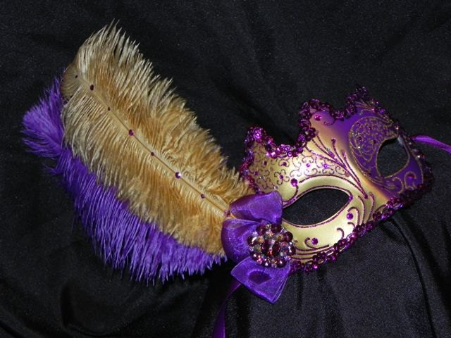 Masquerade Mask in Purple and Gold - photo#17