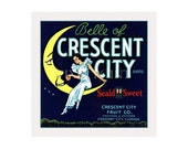 Small Journal - Crescent City Fruit - Fruit Crate Art Print Cover