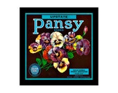 Blank Journal - Pansy Brand - Fruit Crate Art Print Cover