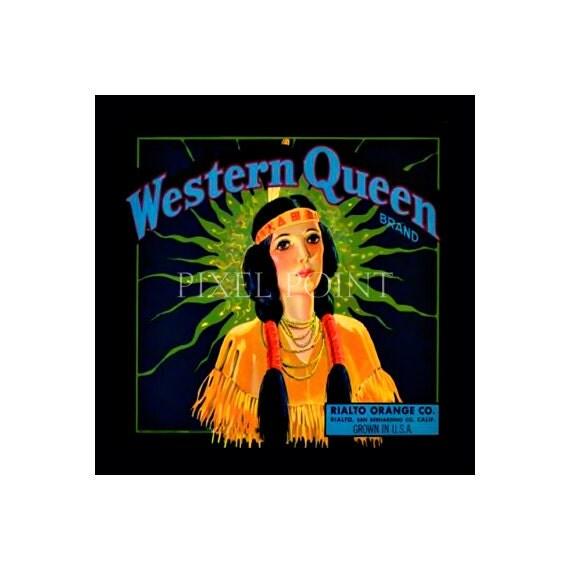 Blank Journal - Western Queen - Fruit Crate Art Print Cover