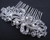 Fresh water pearl bridal hair comb 1920's wedding headpiece bridal hair accessories 1920's wedding accessories bridal hair jewelry wedding