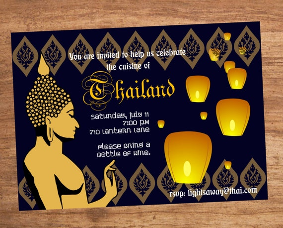 Thai Food Dinner Party Invitation