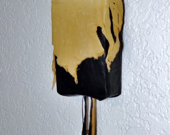 Deer Hide and Cow Hide Leather Wall Sconce