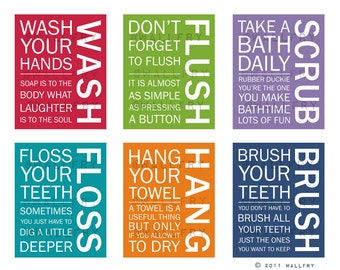 Bathroom Wall Pictures bathroom art prints. bathroom rules. kids bathroom wall