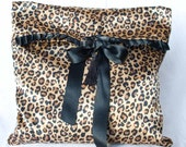 Cheetah print Burlesque Lingerie bag travel bag | Satin Marceline | Love Me Sugar