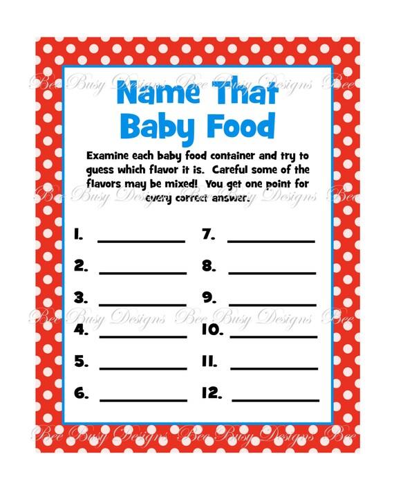 Items similar to Fun Printable Dr. Seuss Baby Food ...