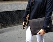Fletcher clutch / leather document holder / document cases / leather folder / handmade iPad case / iPad cases