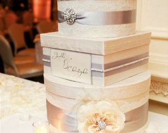 Wedding Card Box Custom Money Box, Bridal Shower Money Holder
