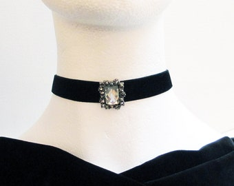 Black Velvet Choker, Black Choker, Gothic Choker, Velvet Choker, Bridesmaid Necklace, Choker Necklace, Bridal Necklace, Victorian Necklace