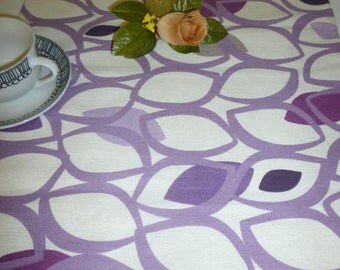 "Coffee/ Console Grape Purple Table Runner Funky Retro Designer Cotton (54"" 137cm) 4 color choices"