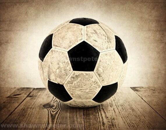 Vintage Soccer Ball on Wood Photo Print, Boys Room, Wall Decor, Wall Art,  Man Cave,Boys Nursery Ideas, Gift Ideas,