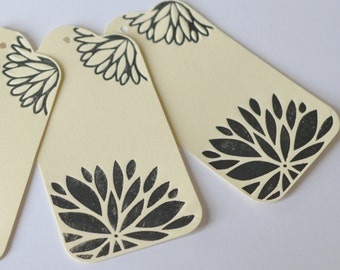 Letterpress Tags, Flower Labels, Large Letterpressed Die Cut Tags, Gift Wrap, Fiskars Fuse, Choose Your Color