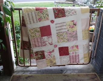 Modern feminine blocks quilt