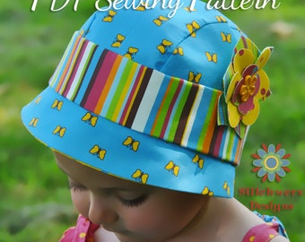 Baby, Infant, Toddler, Child Hat PDF Sewing Pattern - Vintage Cloche Hat Pattern S106CHLD