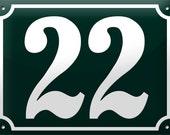 "Enamel House Number 5.9"" x 7.9"""