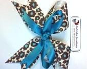 Leopard Print Bow Hair Clip