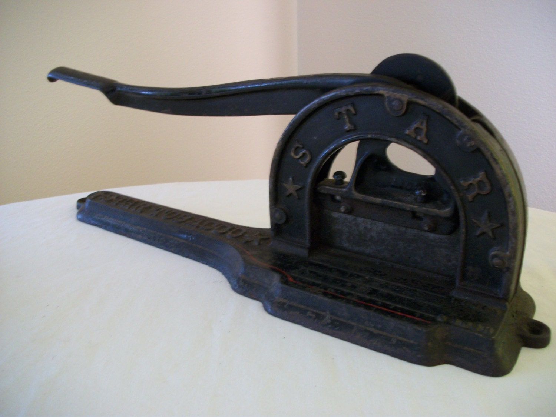 Antique cast iron tobacco cutter cigar