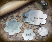 Flower Stamping Blanks ... 6 Petals -Nickel Silver - 1 inch - 5 Blanks for You