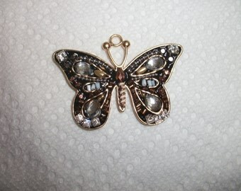 gold beaded butterfly