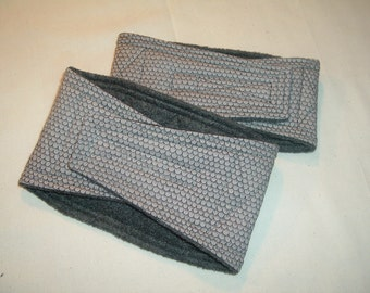 Male Dog Belly Bands Waist 10.00 x 4.00 Fits 08.00 to 12.00 inches Wraps by Sew Dog Diapers Quilted Padded Belt BellyBand  #41 GRAY