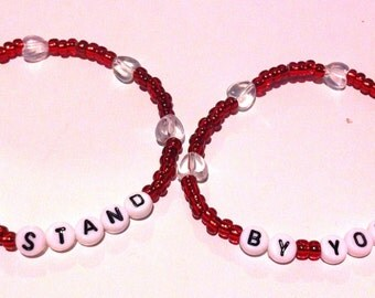 I'LL STAND / By YOU Beaded Friendship Bracelets