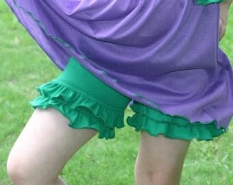 kelly green knit double ruffle shorts shorties sizes 12m - 12 girls