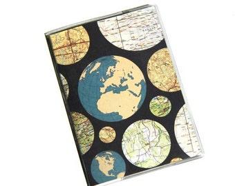 PASSPORT COVER - Map Dots