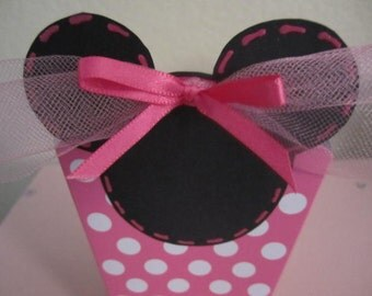 Set of 8 MINNIE MOUSE Party Favor BOXES