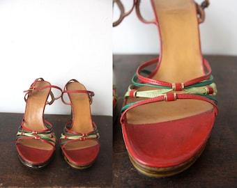 Vintage 1970s Christian Dior designer  Shoes Size 6.5 B