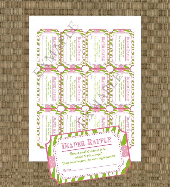 Printable Diaper Raffle Tickets DIY Printable Shower Raffle