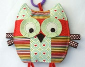 Juliet the Patchwork Owl, Baby Toy, Crinkle Toy, Crinkle Owl, Baby Girl Gift
