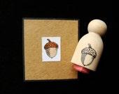 tiny acorn rubber stamp